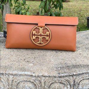 Brand new Tory Burch leather clutch